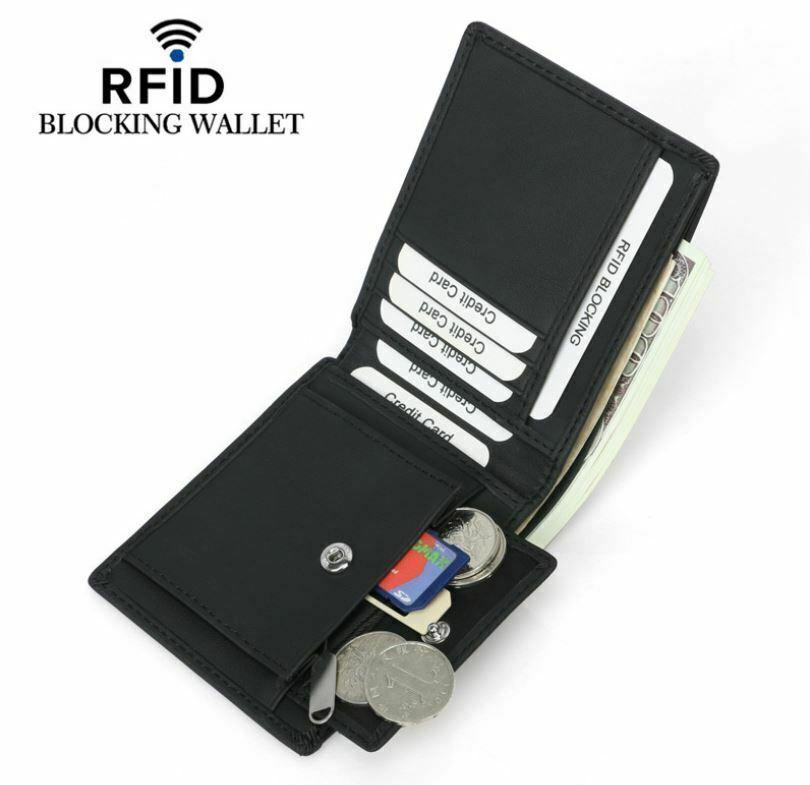 Mens Slim RFID Bifold Wallet