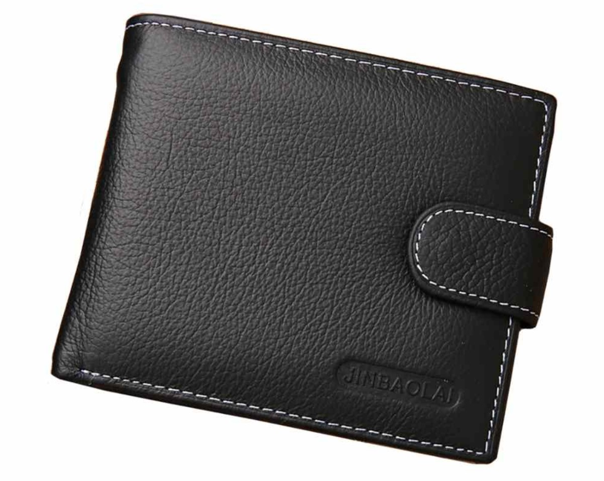 Mens Wallet Black with Coin Pouch