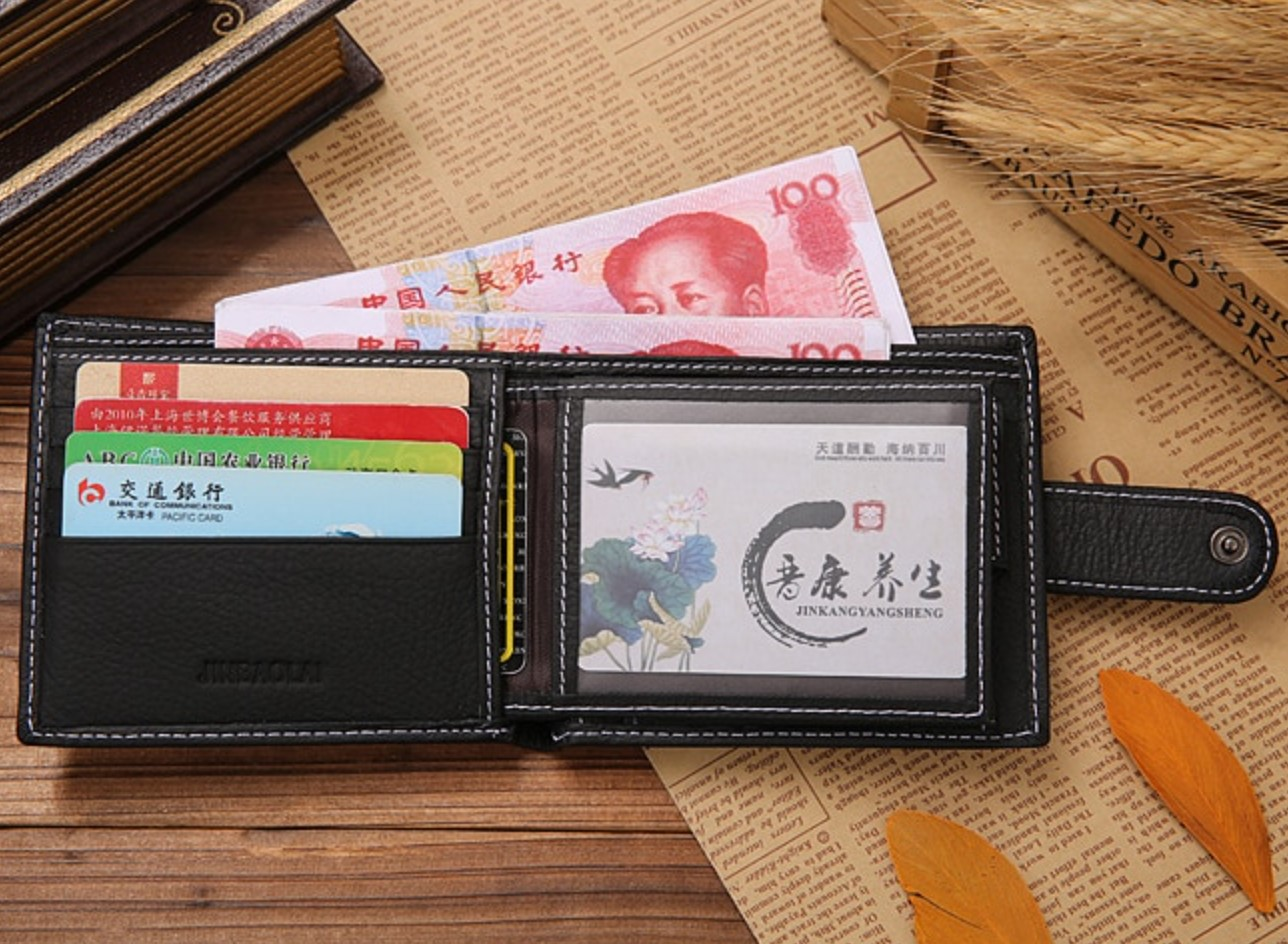 MMens Wallet Black with Coin Pouch